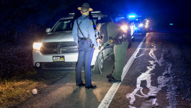 Photo of On-Duty Deputy Involved in Crash with Deer