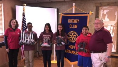 Photo of Rotary hears from HAPS Robotics at luncheon