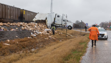 Photo of No Injuries in Train vs Truck Crash
